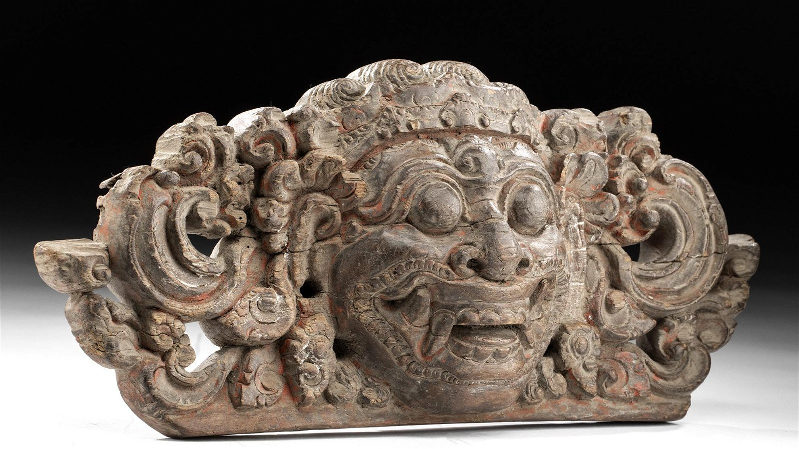 Late 18th C. Indonesian Wood Relief Plaque - Barong