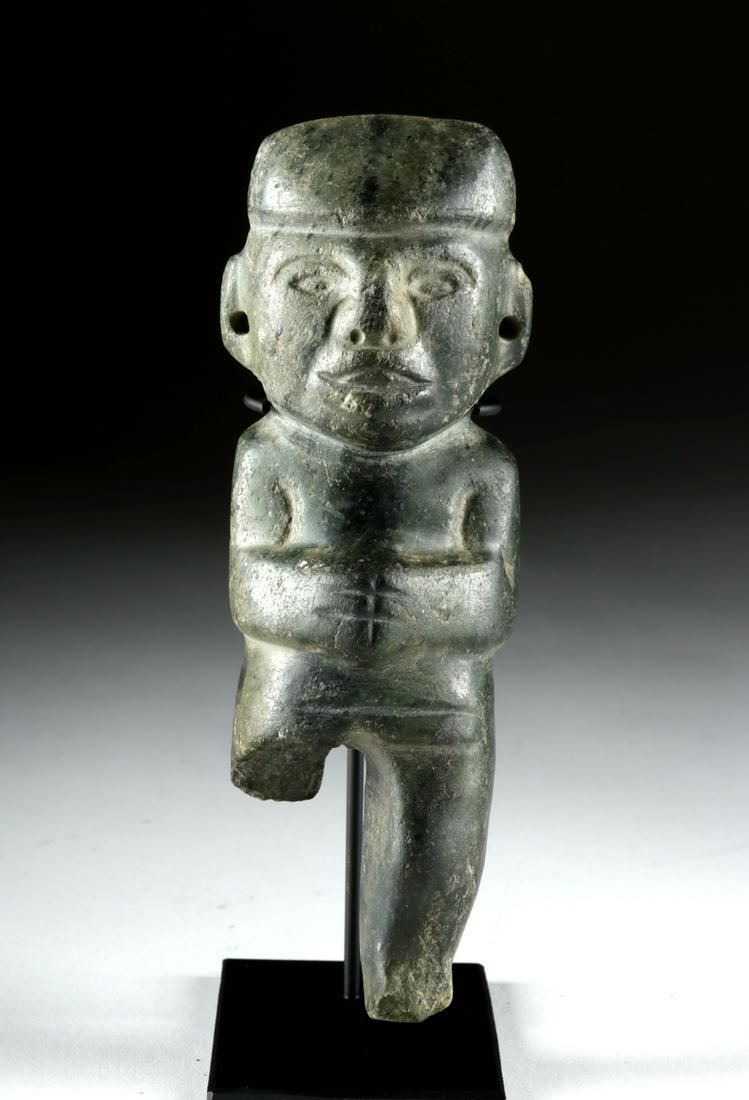 Guerrero Chontal Greenstone Effigy Olmecoid Features