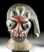 20th C. Yoruba Wooden Egungun Head Piece