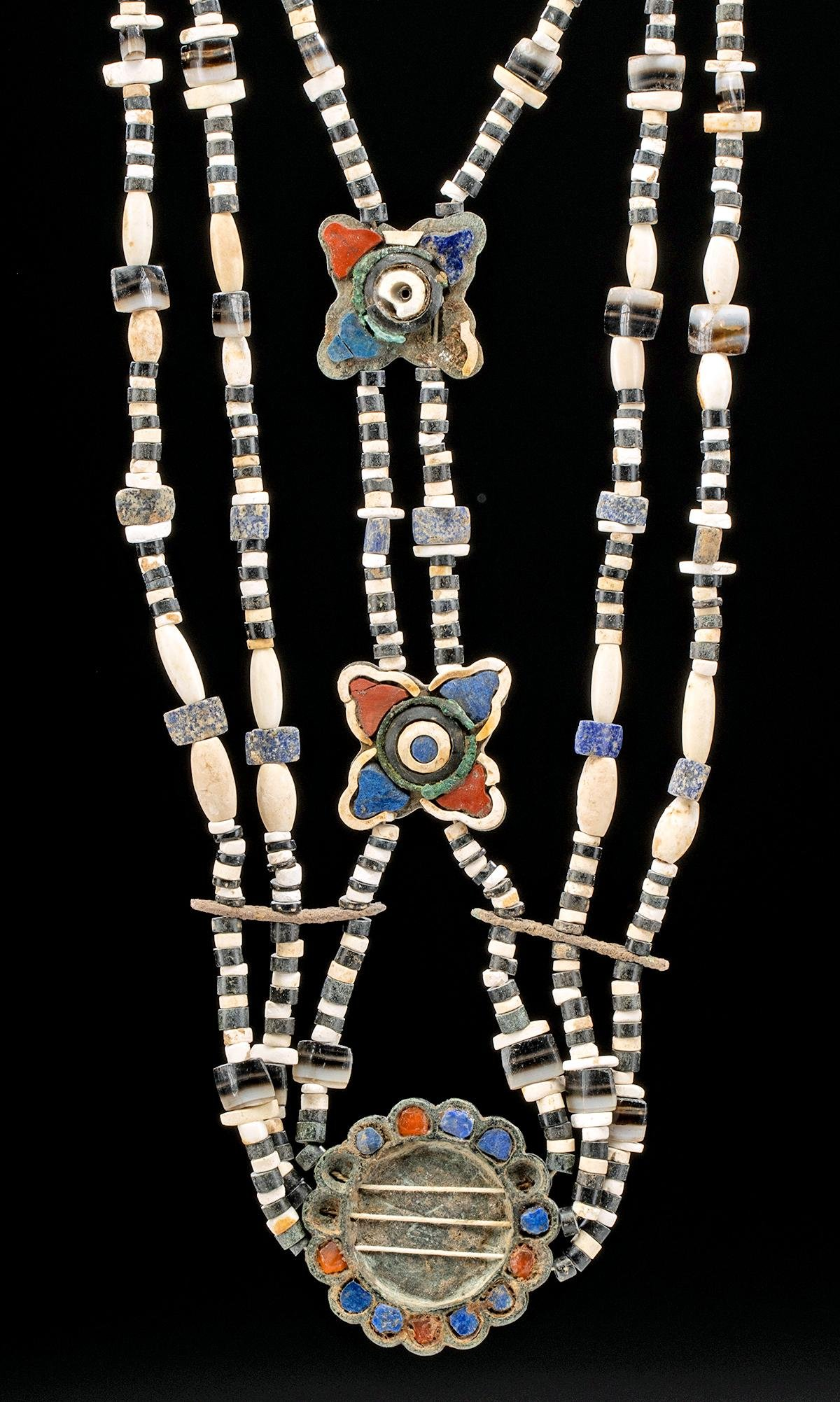 Bactrian Stone & Shell Bead Necklace, ex-Christie's