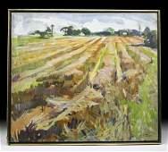 Exhibited Draper Painting - Fields Bridgehampton - 1967