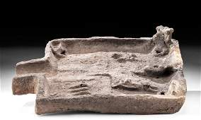 Egyptian Limestone Offering Table, Shovel-Shaped