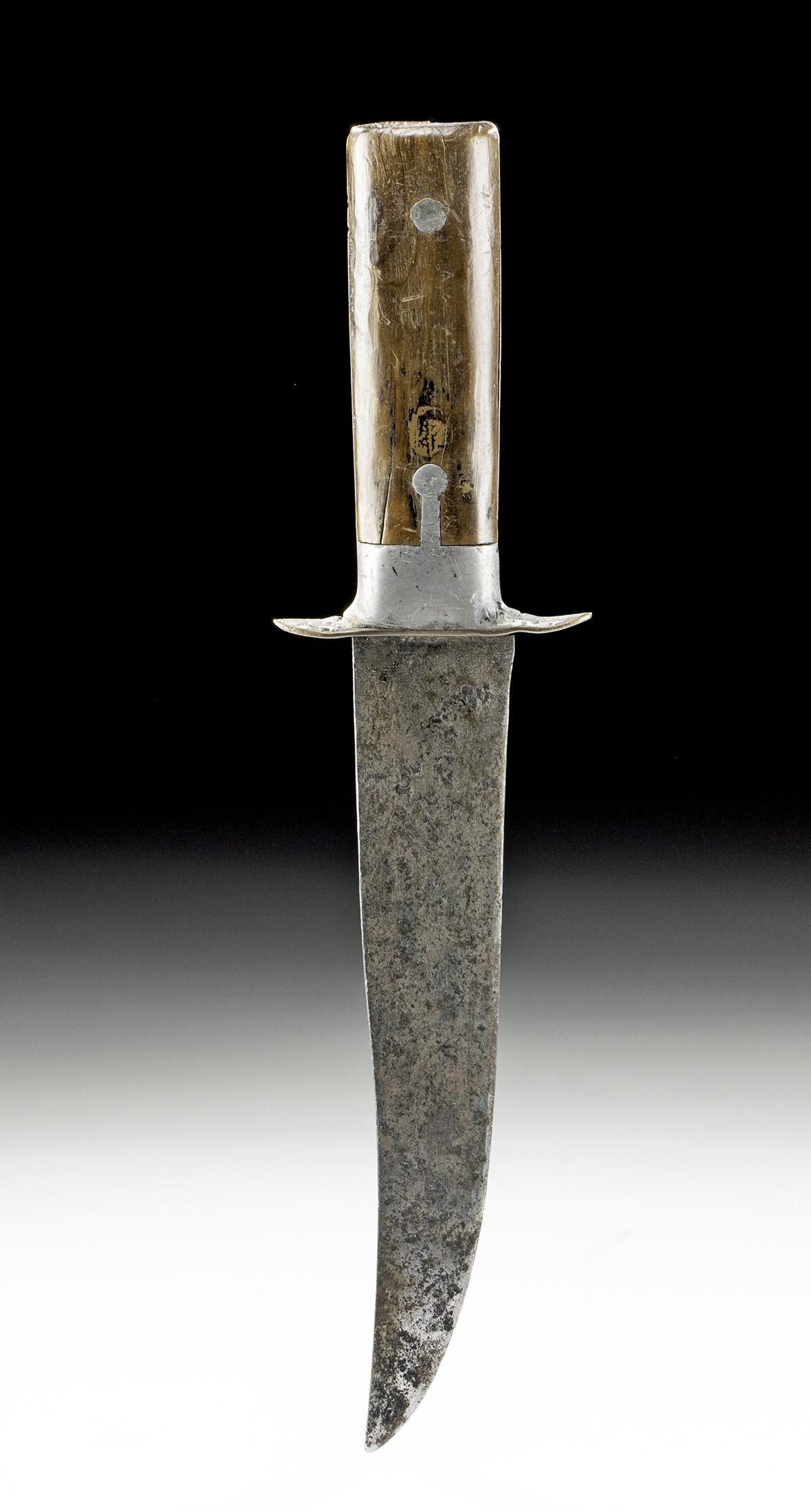 Late 18th C. American Steel Knife - Owned by Blue Duck
