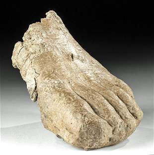 Roman Lead Left Foot Lifesize Form