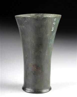 Roman Bronze Flared Rim Vessel