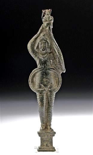 Roman Bronze Latch Depicting Attis Consort to Cybele