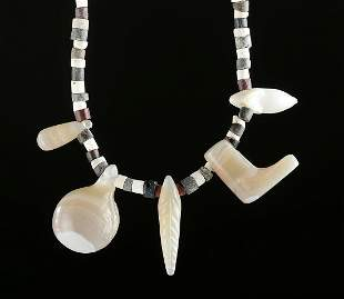 Necklace w Sumerian Stone Faience Bactrian Agates