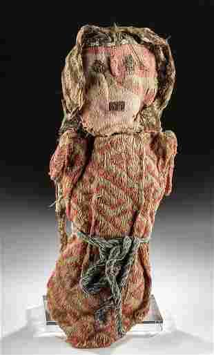 Fine Chancay Polychrome Textile Fiber Doll