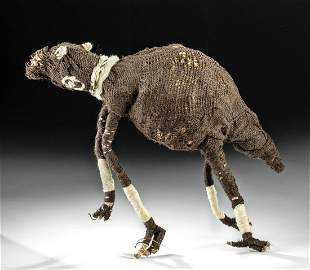Chancay Fiber Sculpture of a Llama w Legs
