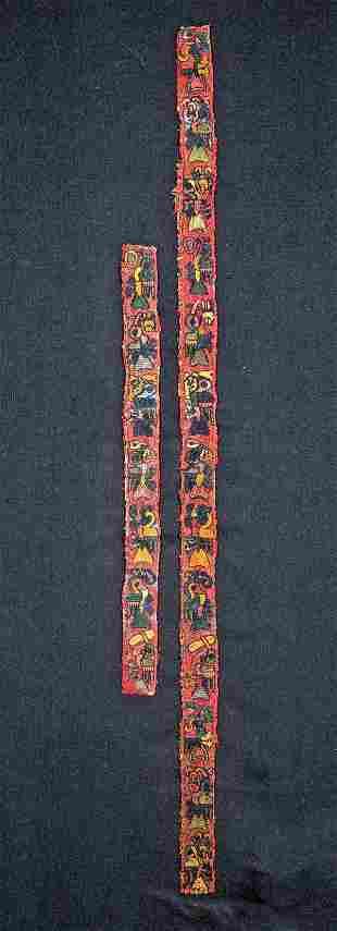 Rare Paracas Textile Borders w Hummingbirds 2