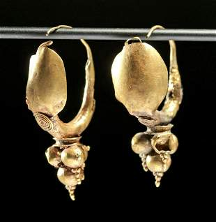 Roman 15K+ Gold Earrings (pr)