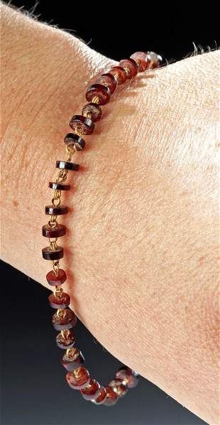 Ancient Roman Gold / Garnet Bracelet, ex-Christie's