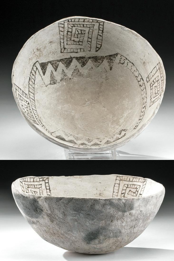 Rare Kiathuthlanna Black and White Pottery Bowl