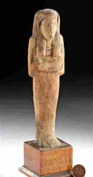 Rare Egyptian Late Dynastic Wooden Ushabti