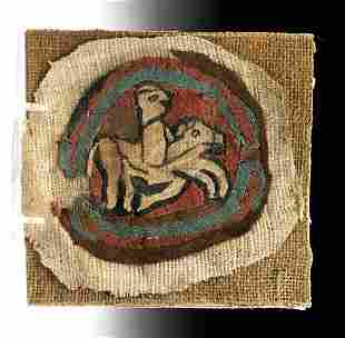 Egyptian Coptic Textile - Horse and Rider