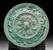 Superb Chinese Tang Dynasty Bronze Mirror  XRF Tested