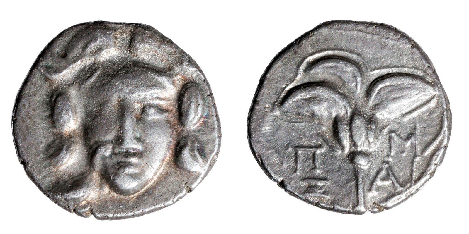 Greece Caria AR Silver Drachm - 2.8 grams