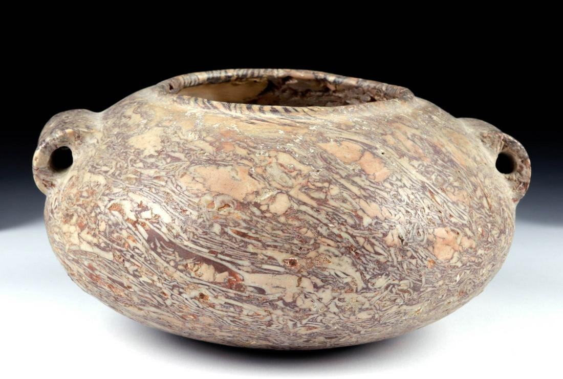Egyptian Pre-Dynastic Naqada III Breccia Stone Vessel