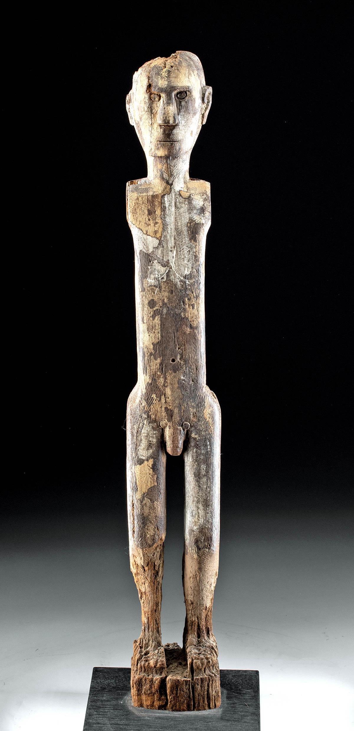 19th C. Borneo Dayak Wood Figural Boundary Marker