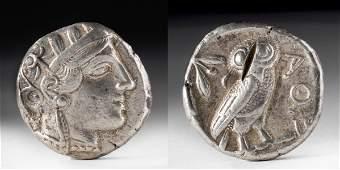 Greek Attica Silver Tetradrachm Athena  Owl  171 g