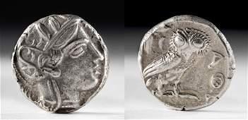 Greek Attica Silver Tetradrachm w Athena  Owl 172 g