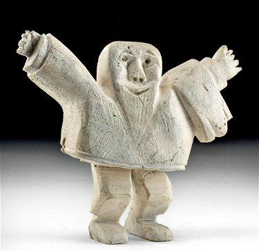 Early 20th C Native American Inuit Bone Figure Jul 09 2020 Artemis Gallery In Co