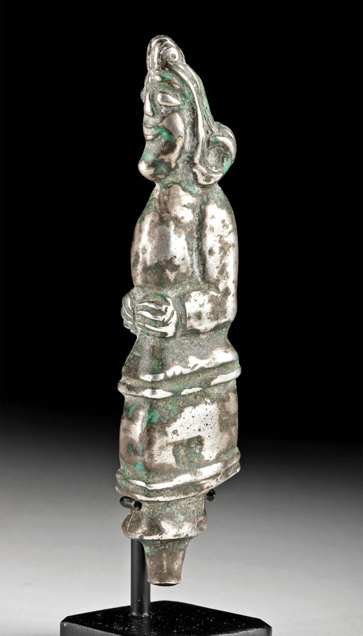 Parthian Silver Dagger Handle - Human Figure - 57.2 g