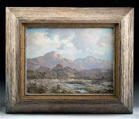 Mid-20th C. Bill Freeman Landscape Painting