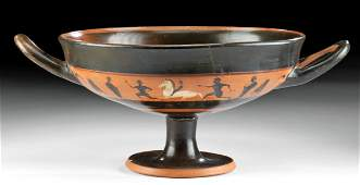 Greek Attic Pottery Stemmed Kylix exRoyal Athena