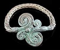 Massive 8th C Viking Silver Bracelet