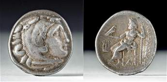Greek Alexander the Great Silver Drachm