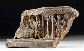 2nd C Gandharan Stone Relief Panel w Buddha