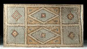 Large Roman Stone Mosaic - Geometric Design