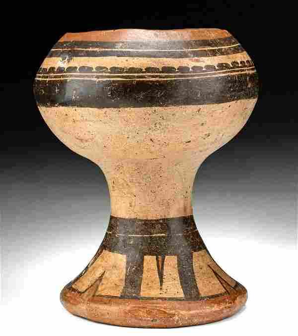 Panamanian Cocle Pottery Polychrome Pedestal Bowl