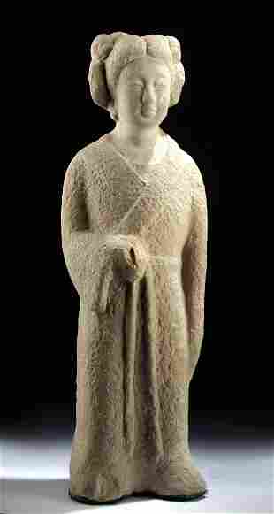 Chinese Tang Stone Sculpture of Woman