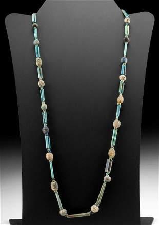 Romano-Egyptian Faience & Glass Bead Necklace