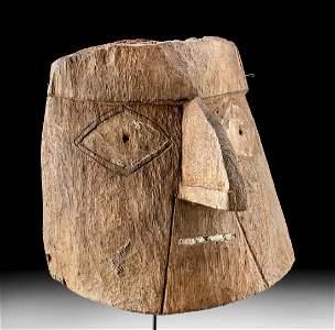 Fabulous Chancay Wood Mummy Mask