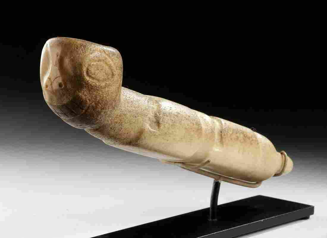19th C. Haida Pipe w/ Human Face, ex-Museum