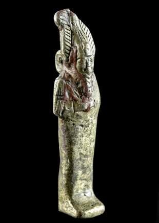 Egyptian Gilt Copper-Silver Amulet of Osiris