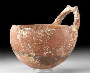 Greek Cypriot Redware Milk Bowl