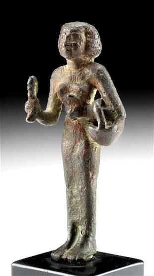 Egyptian Leade Bronze Priestess Bastet ex-Royal Athena