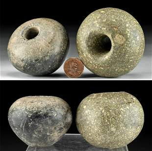 Lot of 2 Egyptian Stone Mace Heads, ex-Sotheby's