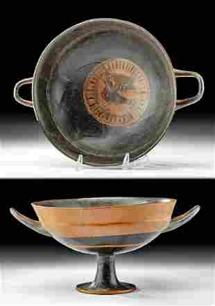 Greek Attic Black-Figure Lip Cup w/ Siren