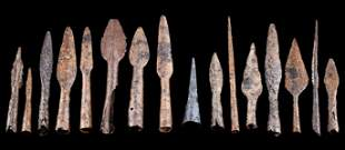 9th C. Viking / Norse Iron Spear Tips (Set of 16)