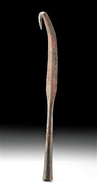 9th C. Viking Iron Spear Tip w/ Bent Tip