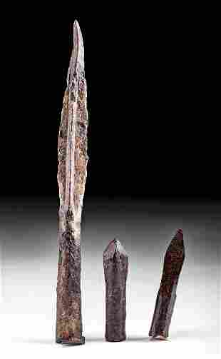 9th C. Medieval European Iron Spear Iron Crossbow Bolts