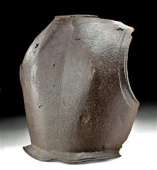 18th C. German Iron Cuirass Back Plate