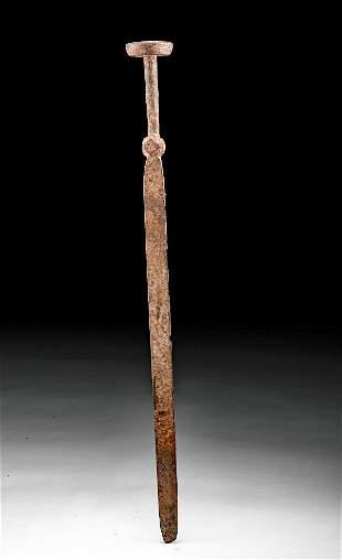 Chinese Qing Dynasty Iron Sword Breaker w/ Pommel