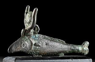 Exhibited Egyptian Bronze Oxyrhynchus Fish