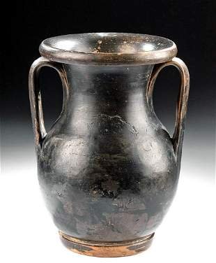Greek Apulian Glazed Pottery Pelike, ex Bonhams